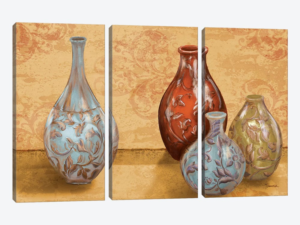 Royal Urns by Tiffany Hakimipour 3-piece Canvas Art