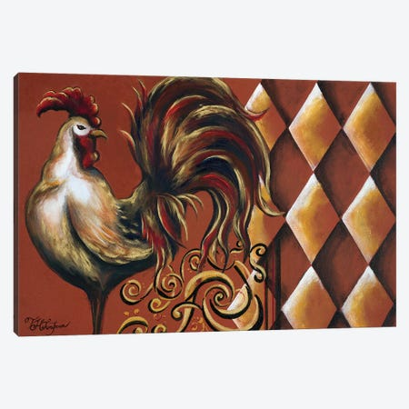 Rules the Roosters I Canvas Print #THK12} by Tiffany Hakimipour Canvas Artwork