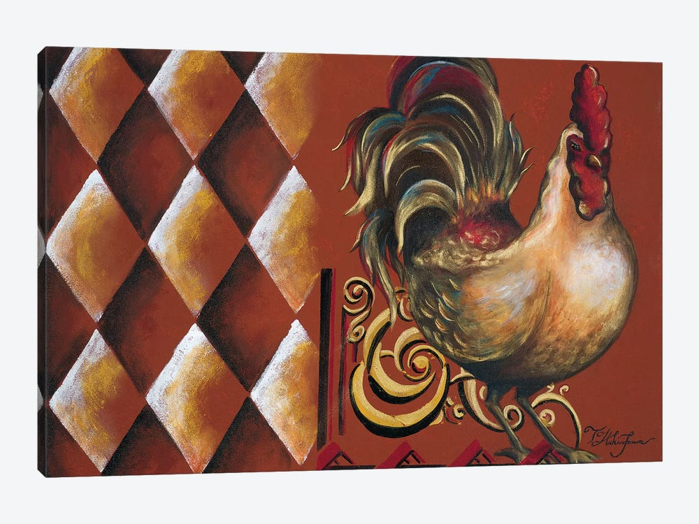 Rules the Roosters II by Tiffany Hakimipour 1-piece Canvas Wall Art