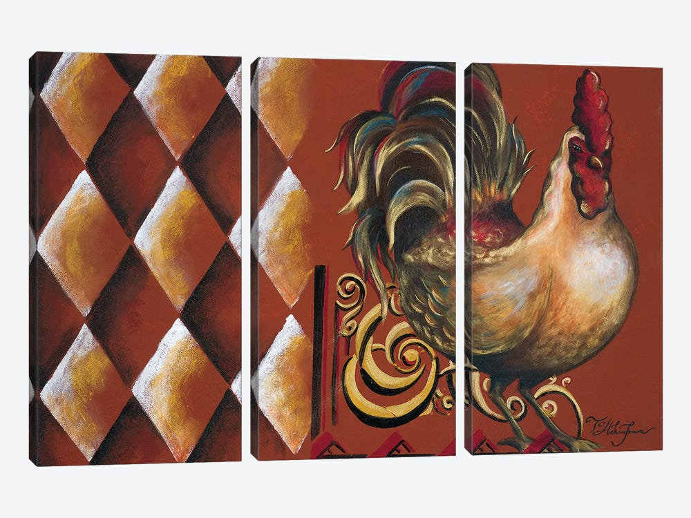 Rules the Roosters II by Tiffany Hakimipour 3-piece Canvas Art