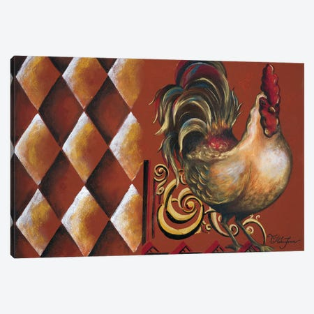 Rules the Roosters II Canvas Print #THK13} by Tiffany Hakimipour Canvas Wall Art
