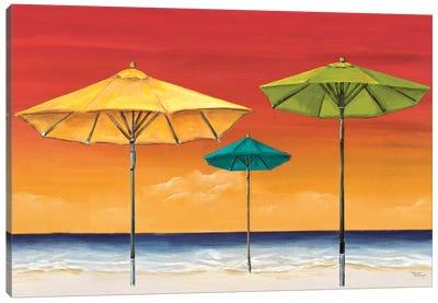Tropical Umbrellas I Canvas Art Print