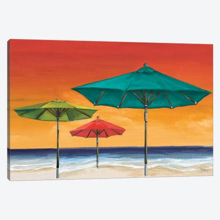 Tropical Umbrellas II Canvas Print #THK15} by Tiffany Hakimipour Canvas Art Print
