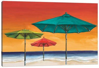 Tropical Umbrellas II Canvas Art Print