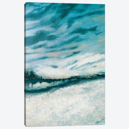 Winter's Edge I Canvas Print #THK16} by Tiffany Hakimipour Art Print