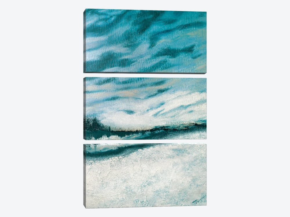 Winter's Edge I by Tiffany Hakimipour 3-piece Canvas Print