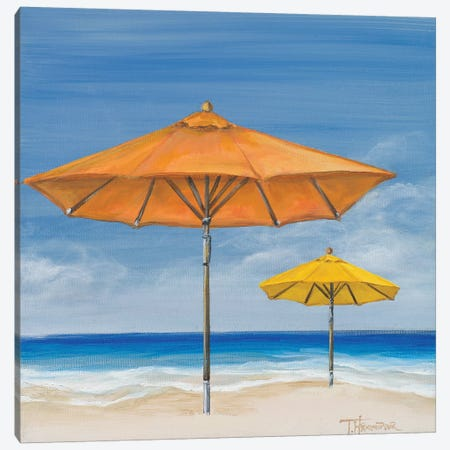 Coastal Scene I Canvas Print #THK18} by Tiffany Hakimipour Canvas Artwork