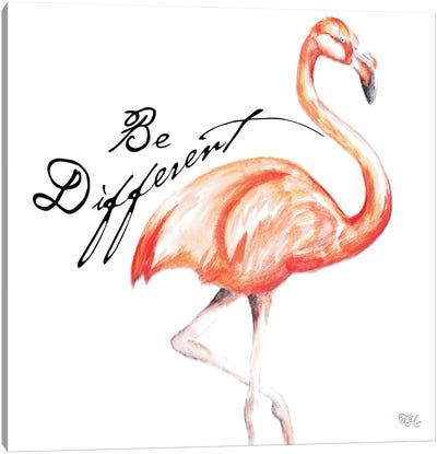 Be Different Flamingo I Canvas Art Print
