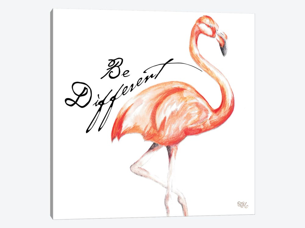 Be Different Flamingo I by Tiffany Hakimipour 1-piece Canvas Wall Art