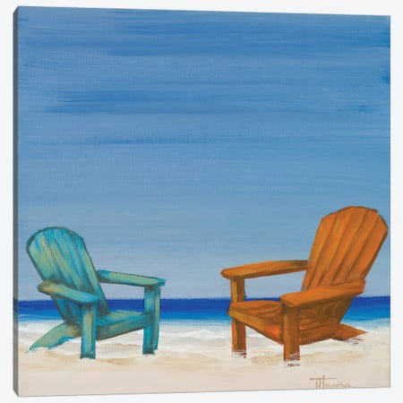 Coastal Scene IV 3-Piece Canvas #THK21} by Tiffany Hakimipour Canvas Print