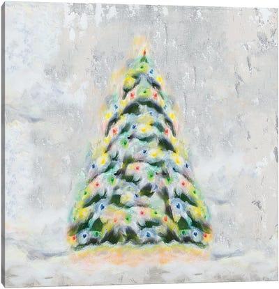 Jolly Christmas Tree Canvas Art Print