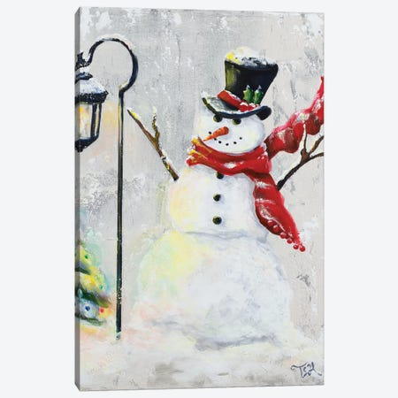 Jolly Snowman Canvas Print #THK28} by Tiffany Hakimipour Art Print