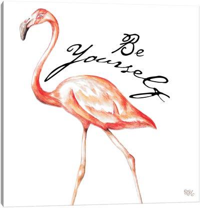 Be Different Flamingo II Canvas Art Print