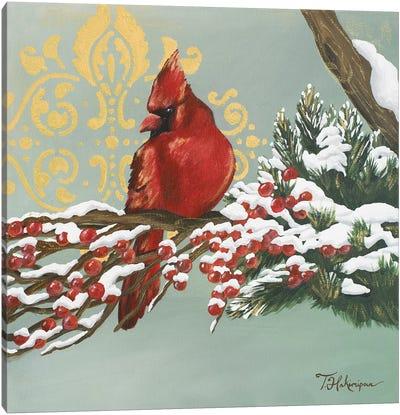 Winter Red Bird I Canvas Art Print