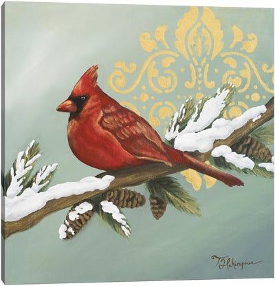 Winter Red Bird II Canvas Art Print
