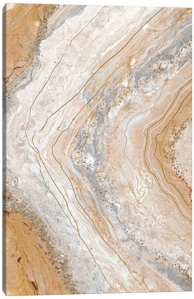Cool Earth Marble Abstract Canvas Art Print