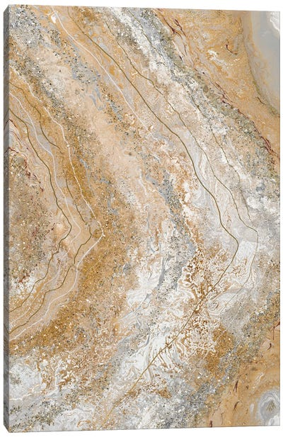 Cool Earth Marble Abstract II Canvas Art Print