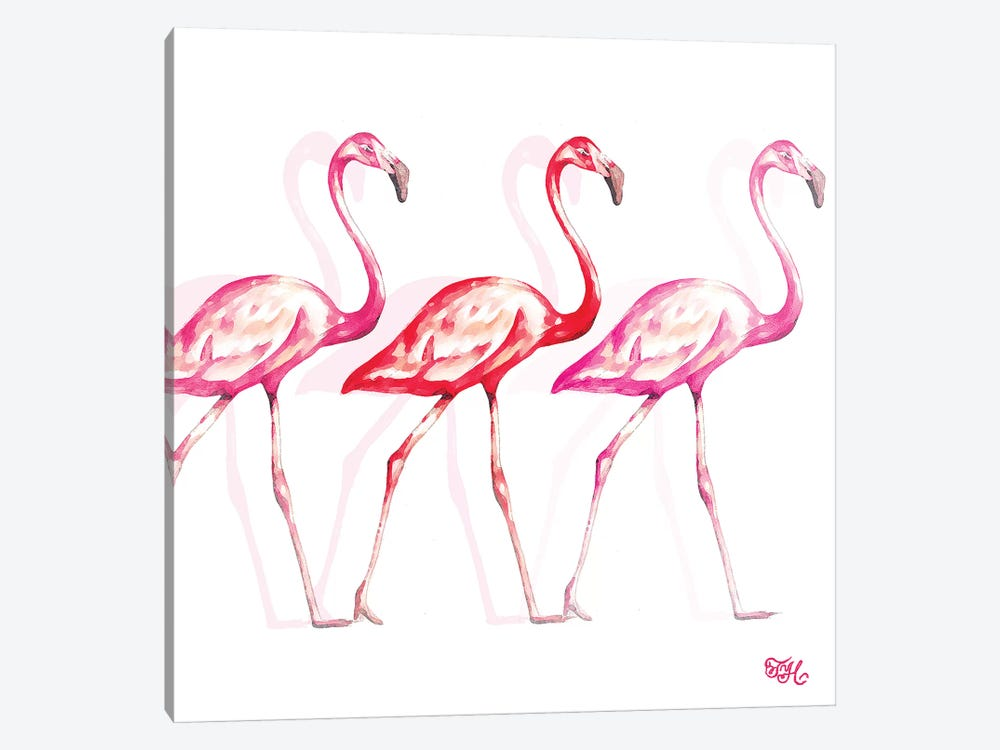 Flamingo Trio I by Tiffany Hakimipour 1-piece Canvas Art