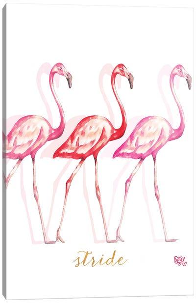 Fashion Flamingos I Canvas Art Print