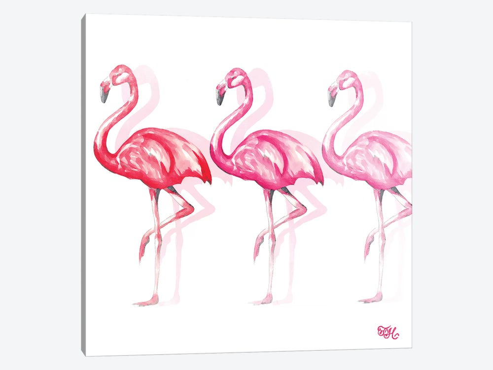 Flamingo Trio II by Tiffany Hakimipour 1-piece Canvas Art Print