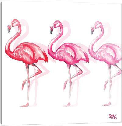 Flamingo Trio II Canvas Art Print