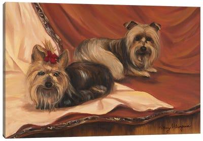 Terrier Couple Canvas Art Print