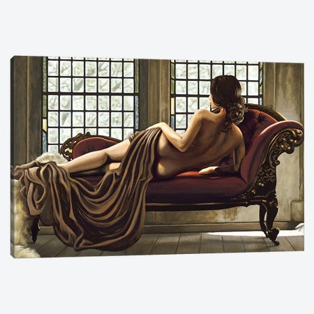 Golden Woman Canvas Print #THP1} by Thomas Page Canvas Artwork