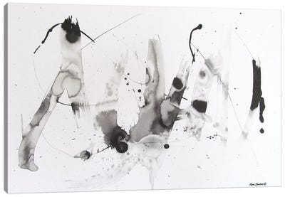 Abstract Ink Canvas Art Print