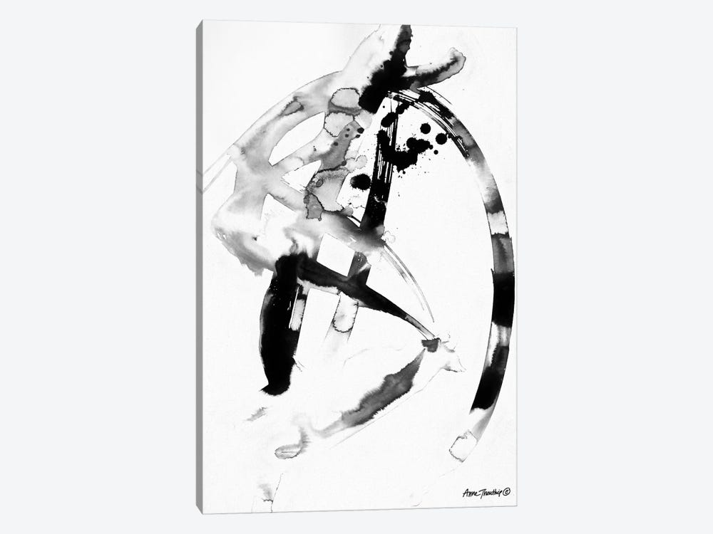 Ink Dance by Anne Thouthip 1-piece Canvas Art Print
