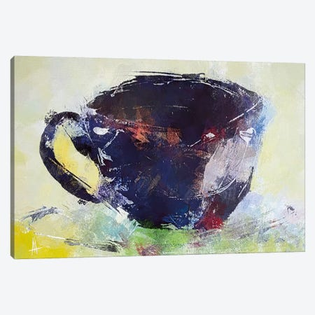 A Cup of Coffee Canvas Print #THT1} by Anne Thouthip Canvas Wall Art