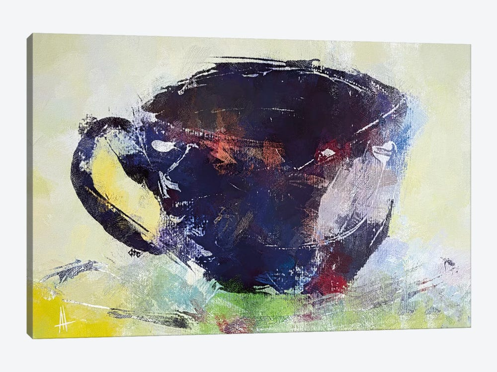 A Cup of Coffee by Anne Thouthip 1-piece Canvas Print