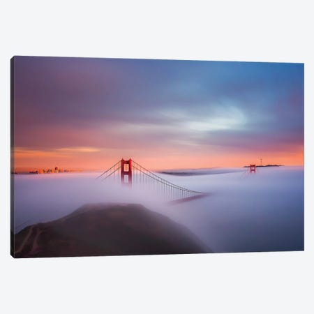 Just Another Day In The Bay Canvas Print #THV1} by Toby Harriman Canvas Artwork