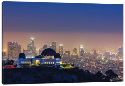 L.A. Skyline With Griffith Observatory Canvas Print #THV2