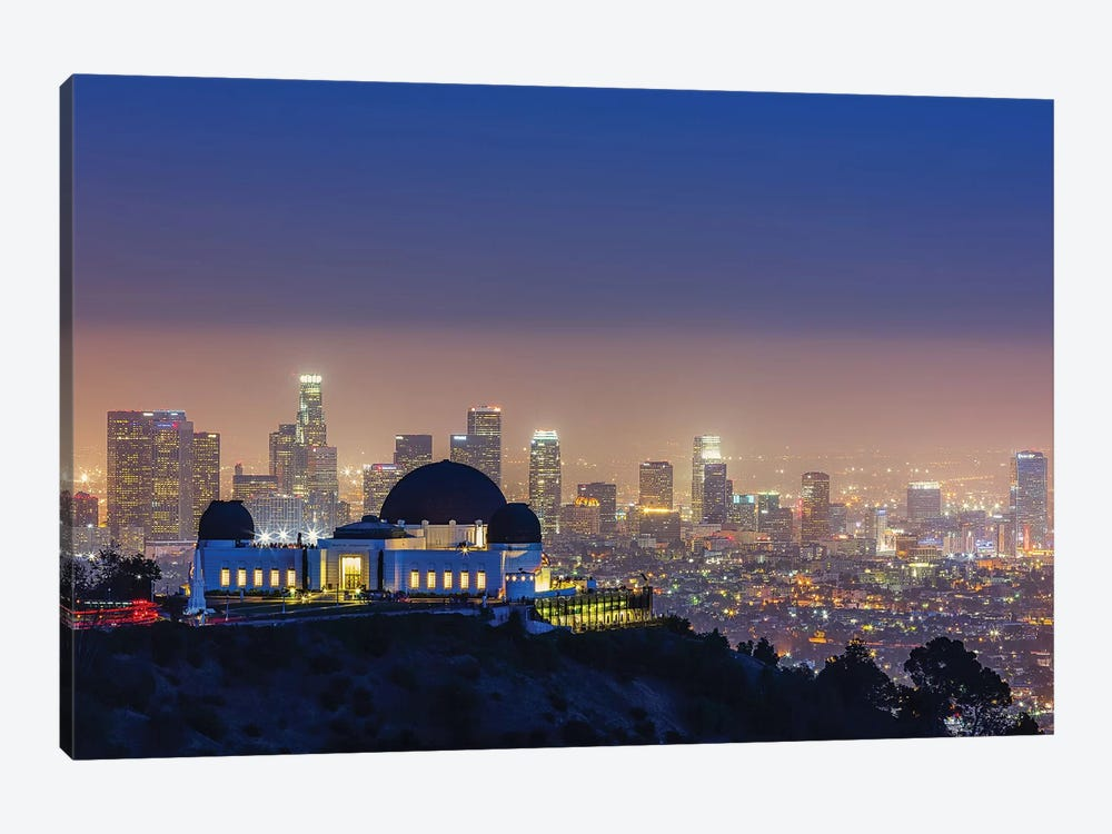 L.A. Skyline With Griffith Observatory by Toby Harriman 1-piece Canvas Art