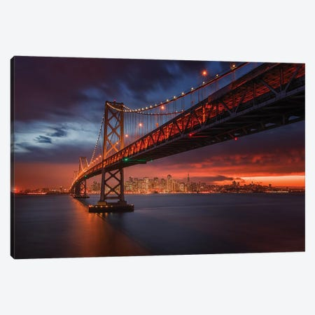 Fire Over San Francisco Canvas Print #THV6} by Toby Harriman Canvas Art Print