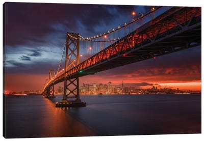 Fire Over San Francisco Canvas Art Print