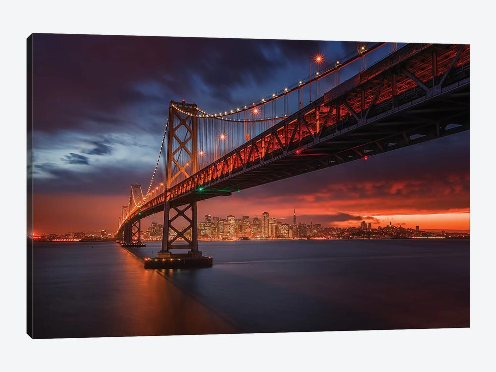Fire Over San Francisco by Toby Harriman 1-piece Canvas Artwork