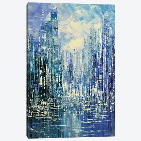 Blue Rain Canvas Print #TIA10} by Tatiana Iliina Canvas Art Print