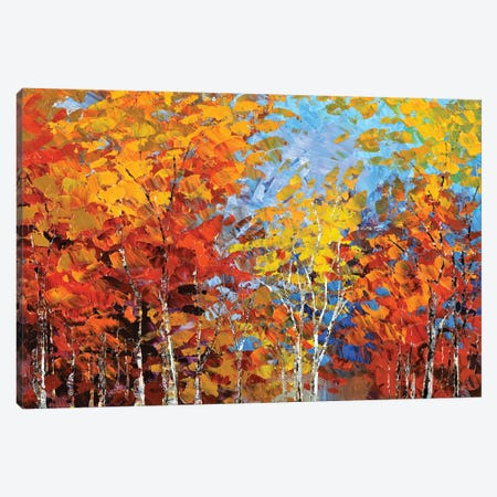 Autumn Hillside Canvas Print #TIA111} by Tatiana Iliina Canvas Artwork