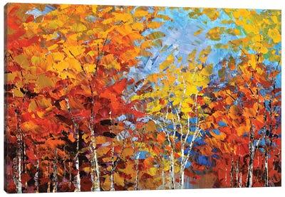 Autumn Hillside Canvas Art Print