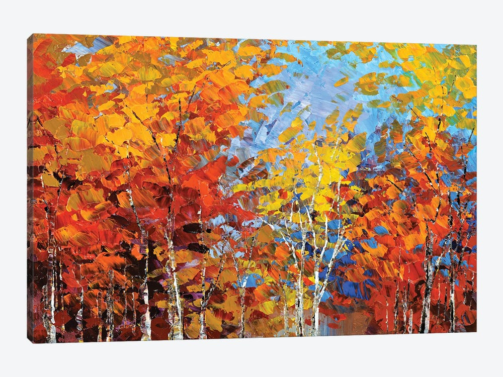 Autumn Hillside 1-piece Canvas Art Print