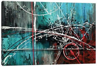 Descent Of Data Canvas Art Print