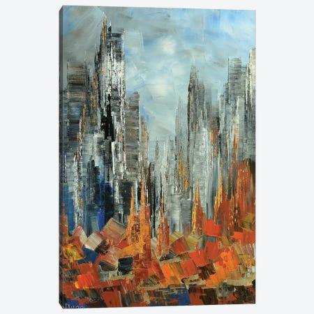 Fall Abstract Canvas Print #TIA32} by Tatiana Iliina Art Print