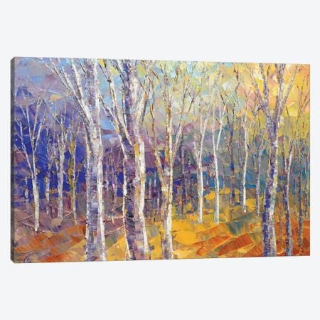 Fallen Leaves Canvas Print #TIA33} by Tatiana Iliina Art Print