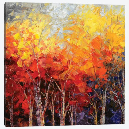Listening To Leaves Canvas Print #TIA55} by Tatiana Iliina Canvas Wall Art