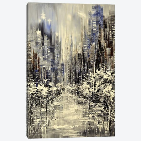 Snowflake Central Canvas Print #TIA82} by Tatiana Iliina Canvas Wall Art