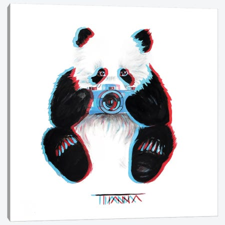 Panda Canvas Print #TIM16} by TIANA Canvas Art