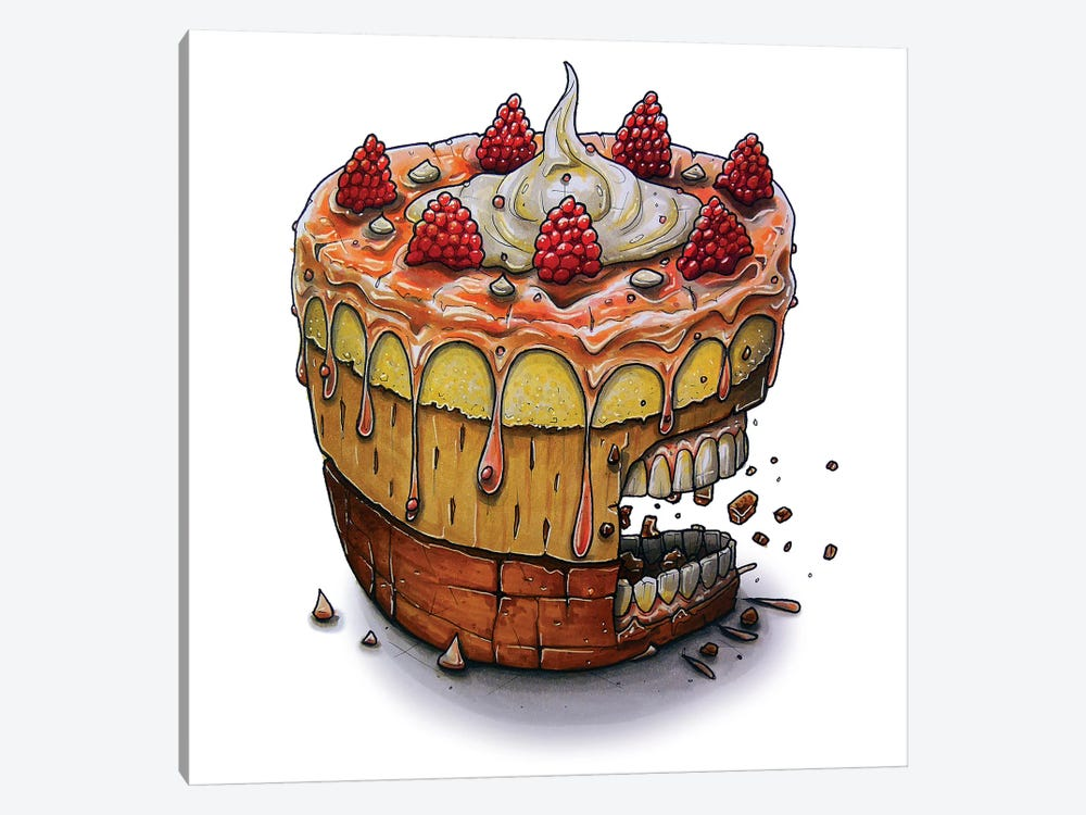 Cake by Tino Valentin 1-piece Canvas Wall Art