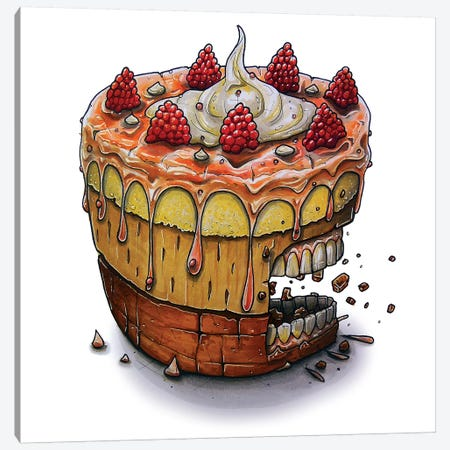 Cake Canvas Print #TIV11} by Tino Valentin Canvas Wall Art