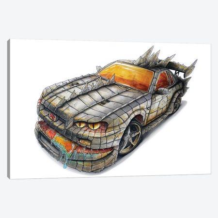 Godzilla Car Canvas Print #TIV12} by Tino Valentin Canvas Wall Art